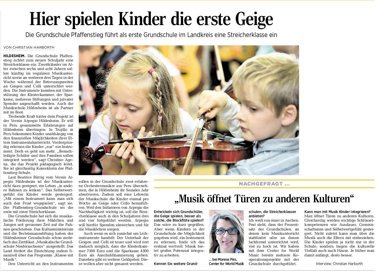 01.09.2015 Quelle: Hildesheimer Allgemeine Zeitung