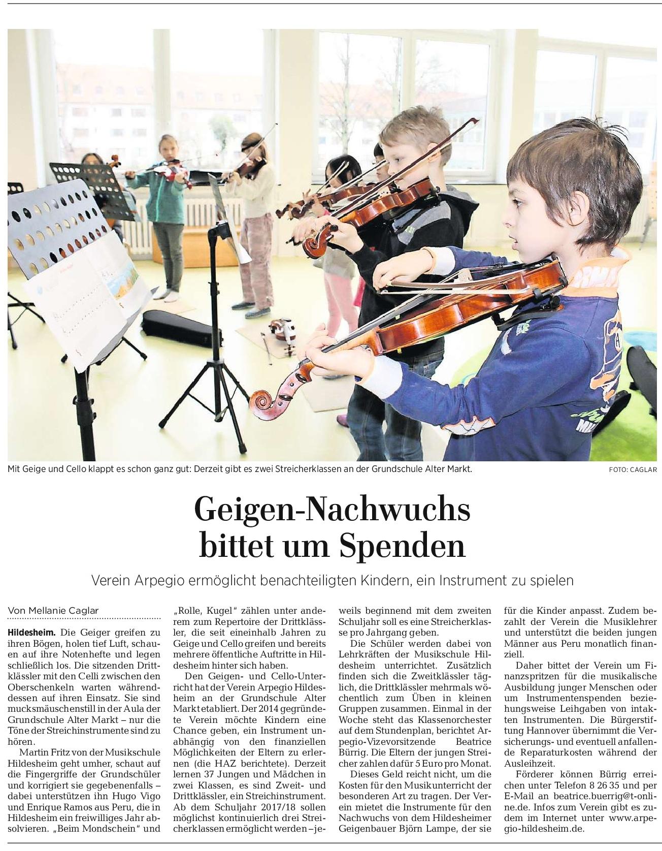 08.03.2017 Quelle: Hildesheimer Allgemeine Zeitung