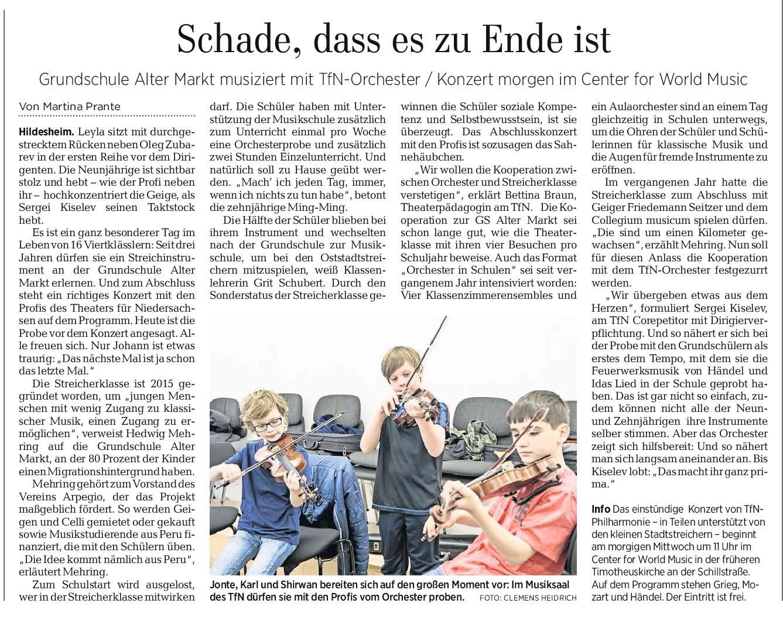 11.06.2019 Quelle: Hildesheimer Allgemeine Zeitung