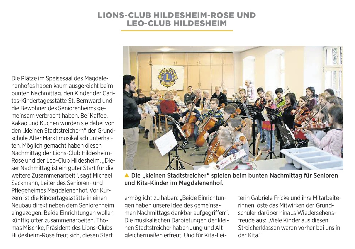 12.04.2018 Quelle: Hildesheimer Allgemeine Zeitung