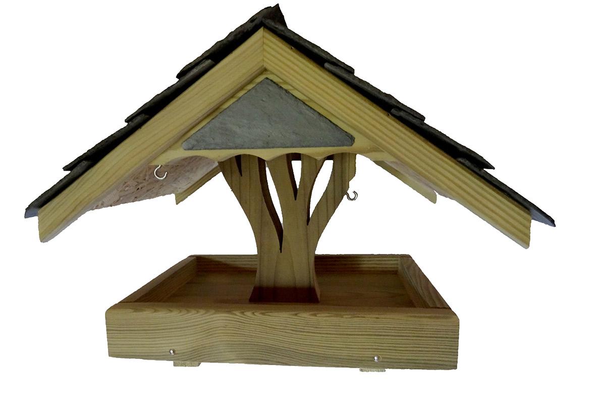 mangeoire oiseaux chene la cabane au piaf mangeoires et nichoirs pour oiseaux. Black Bedroom Furniture Sets. Home Design Ideas