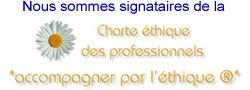 """Nous sommes signataires de la Charte """"accompagner par l'éthique"""""""