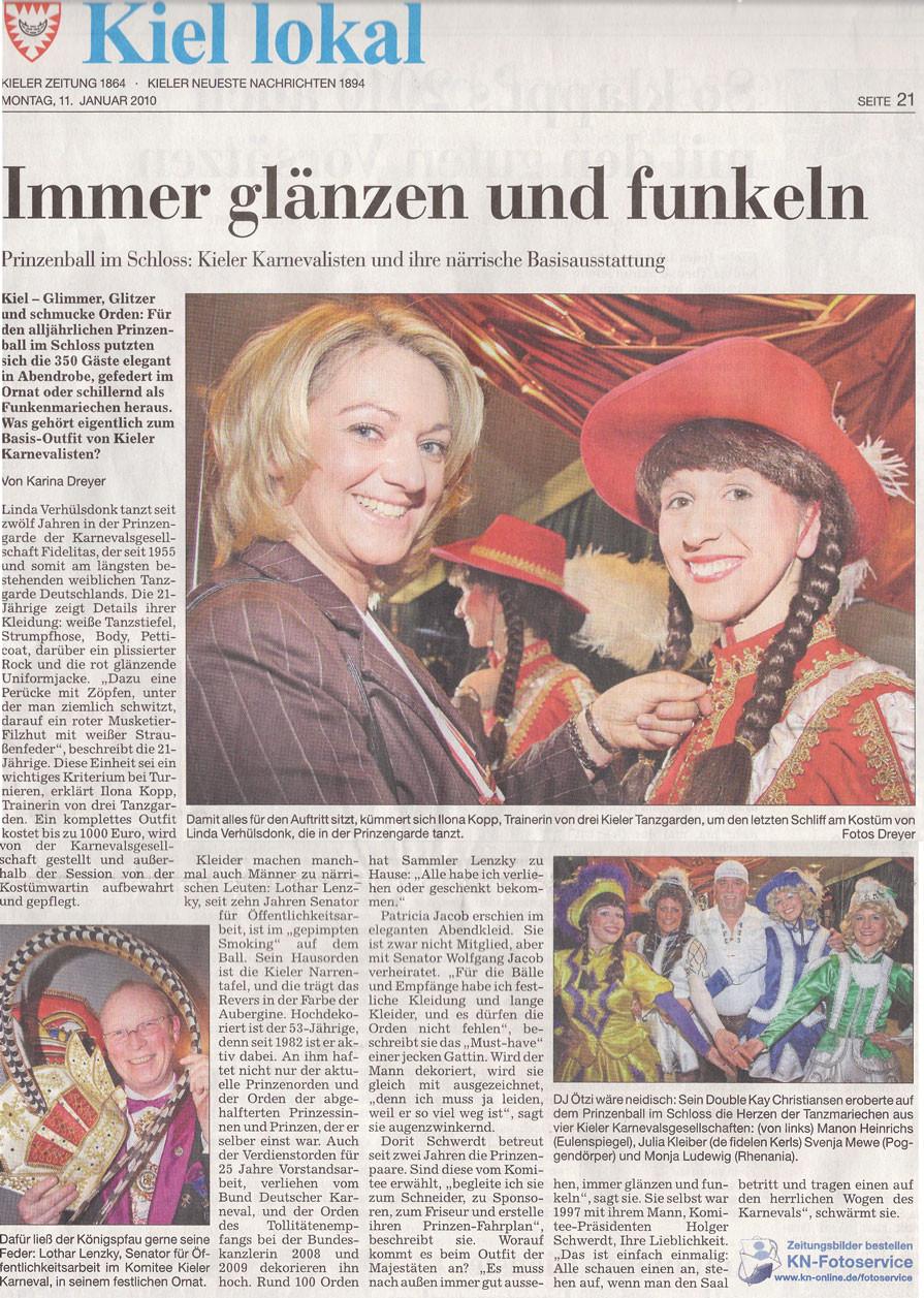 Kieler Nachrichten 11.01.2010