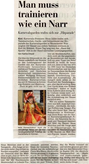 Kieler Nachrichten 03.12.2012