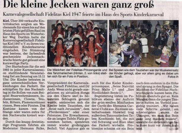 Kieler Nachrichten 21.02.2012
