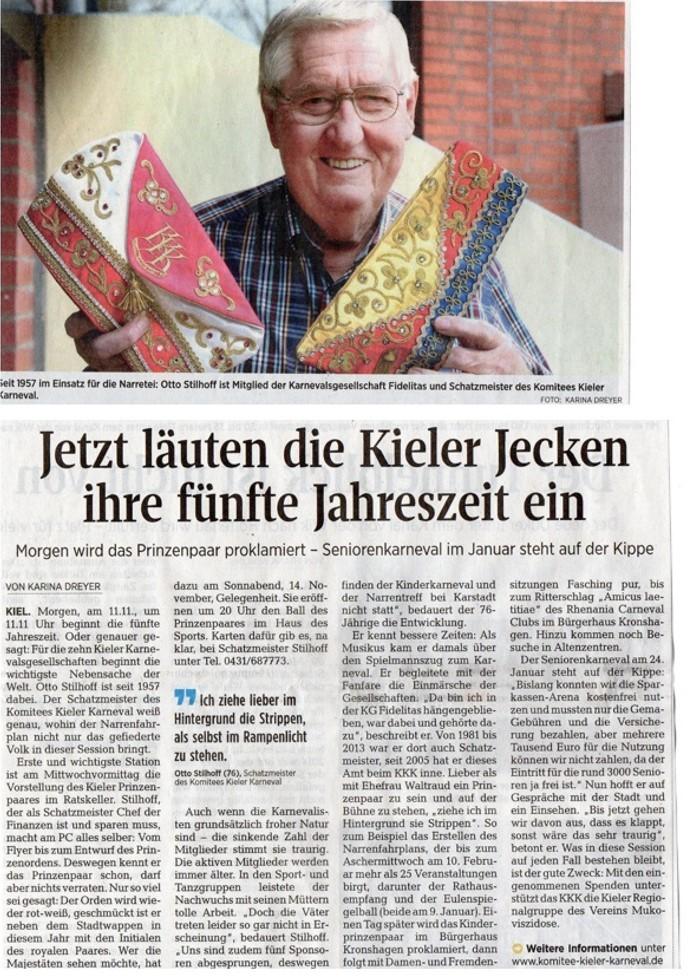 Kieler Nachrichten 10.11.2015