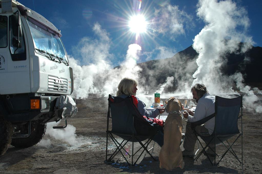 Tatio, in der Atacama Wüste Nordchiles, das höchste Gaisyrfeldel der Erde in