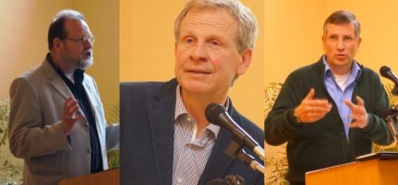Inspektor Hartmut Stropahl, Dr. Michell Grell und Pastor Johannes Holmer