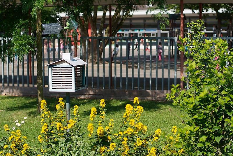 Wetterstation im Schulgarten
