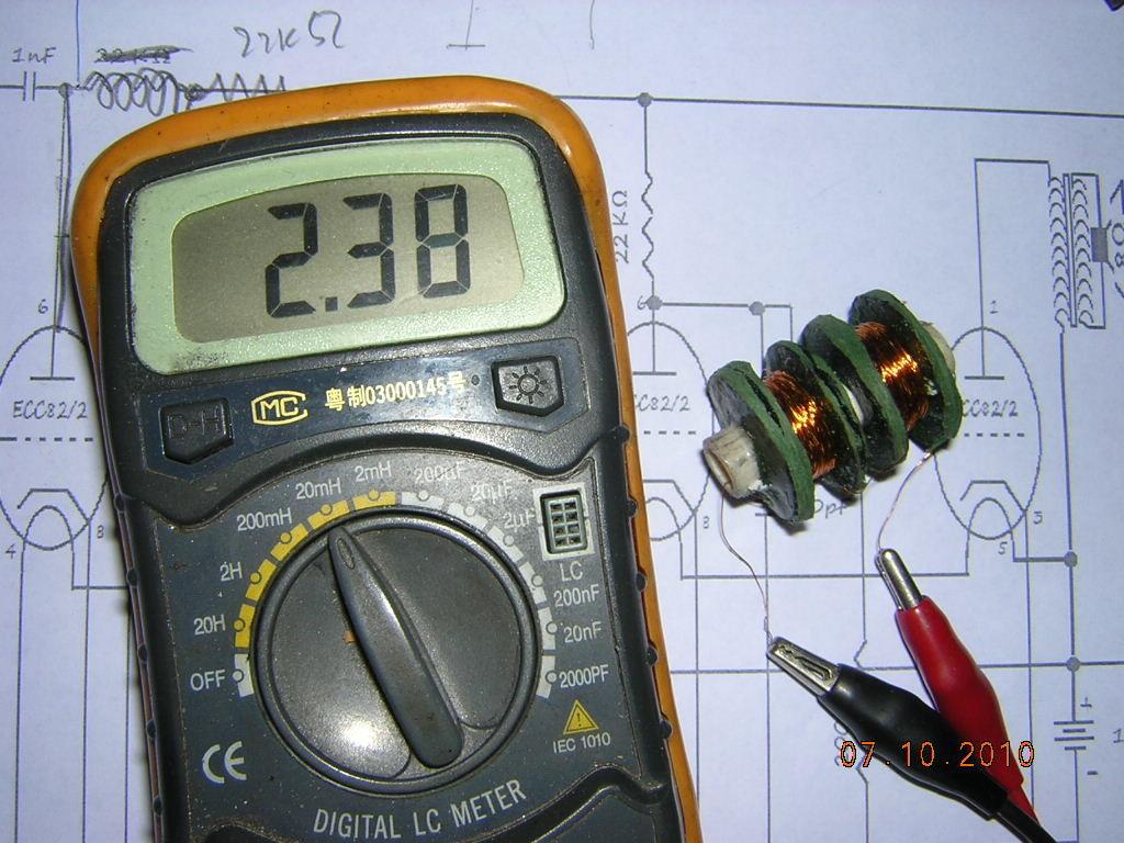 valore induttanza bobina di blocco alta frequenza