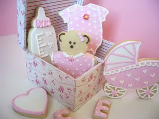 caja regalo de galletas bebé