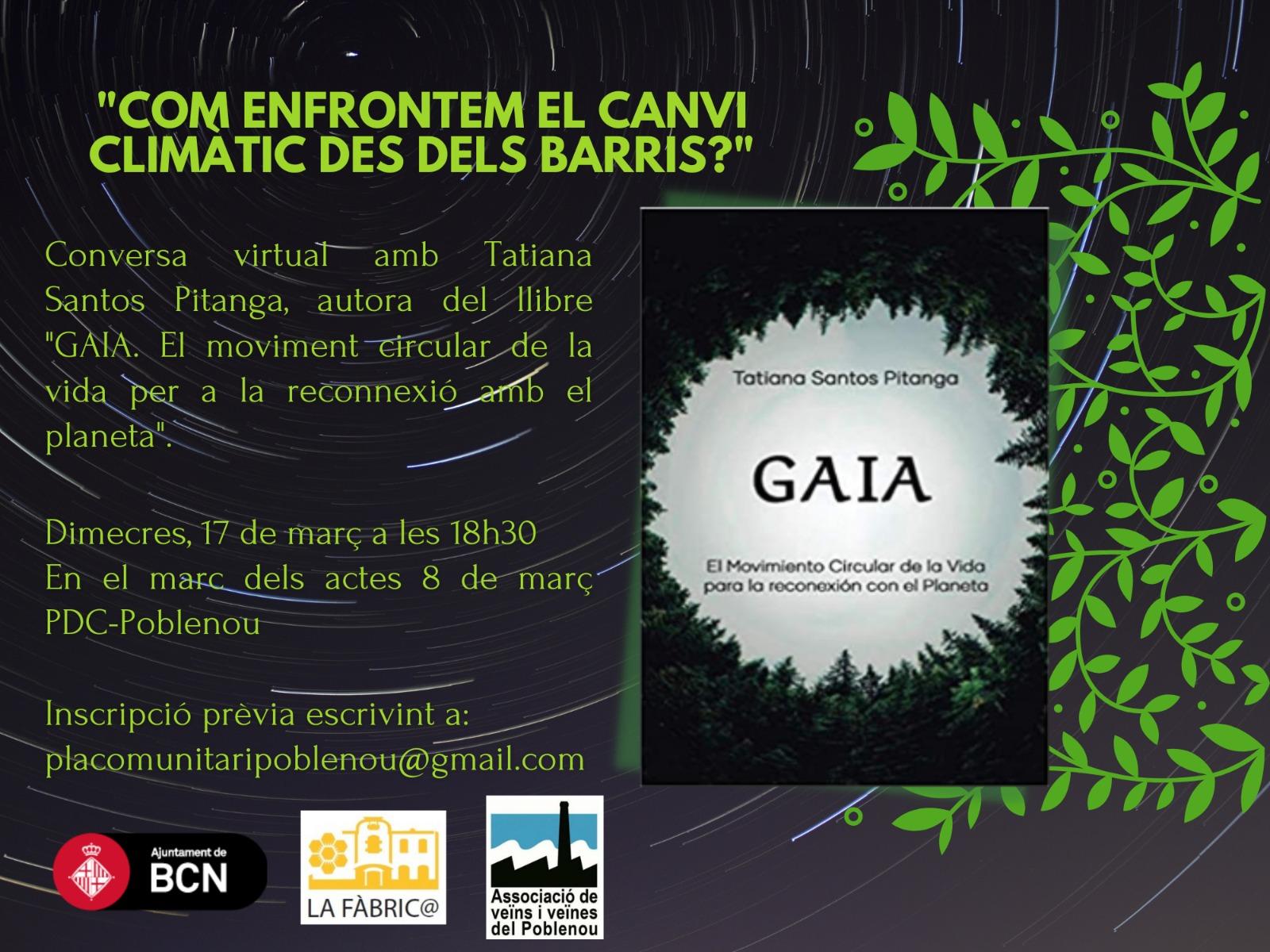 """[CCC-Primavera]: """"GAIA, el moviment circular de la vida per a la reconnexió amb el planeta"""""""
