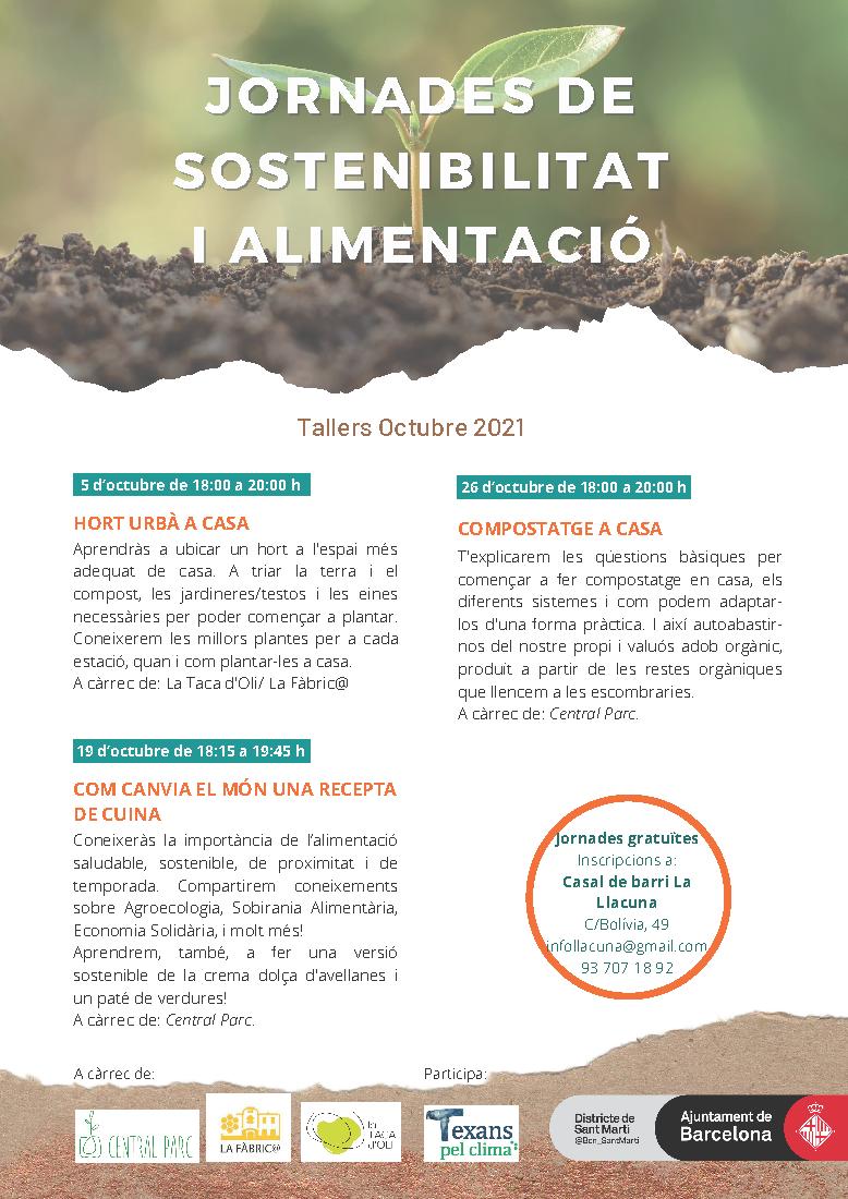 Jornades de sostenibilitat i alimentació (OCT/2021)