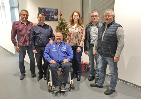 Neues Team (v.l.): Uwe Henning, Jörg Ebert, Michael Kowalski, Sandra Bruder, Peter Foltenowitsch, Helmut Greiner
