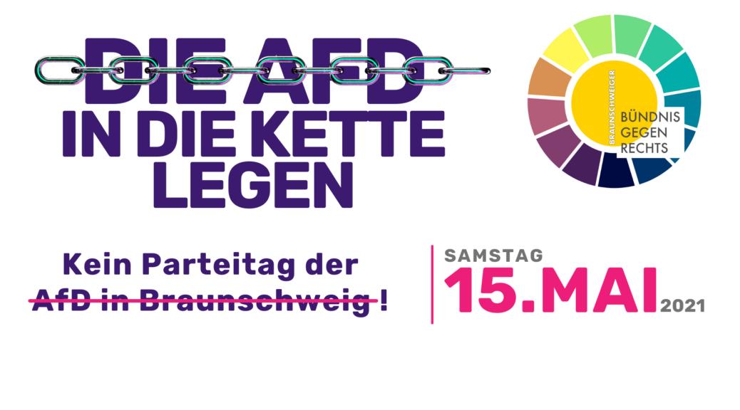 Kein Parteitag der AfD in Braunschweig Die AFD in die Kette legen!