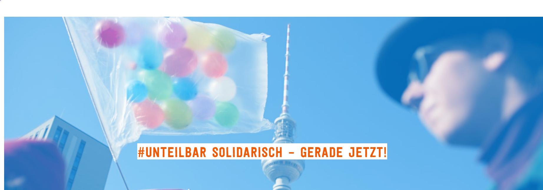 #unteilbar - Für eine gerechte und solidarische Gesellschaft!