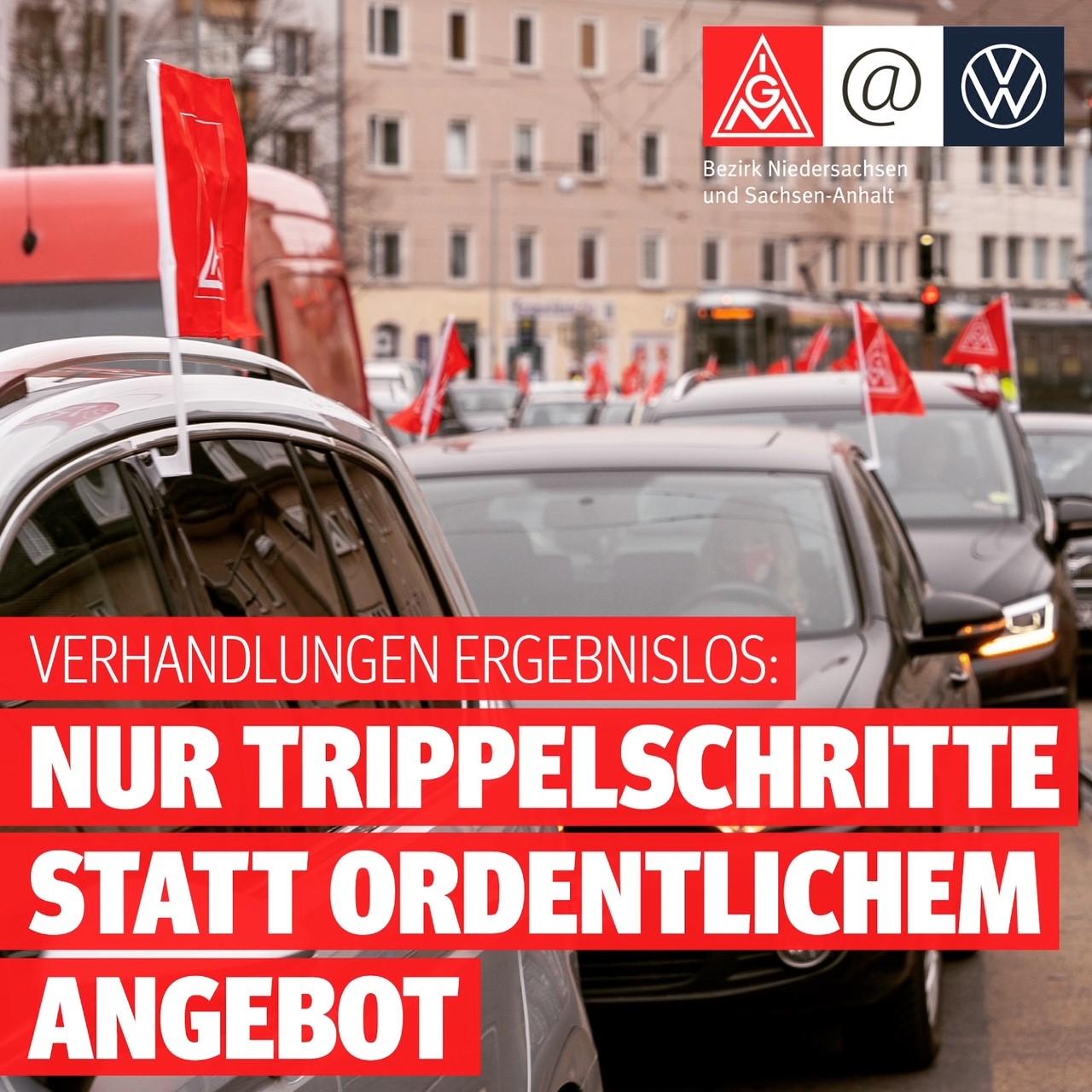 Tarifrunde Volkswagen - Verhandlungsbegleitende Aktionen im Volkswagen Werk Wolfsburg - Hunderte beteiligen sich!