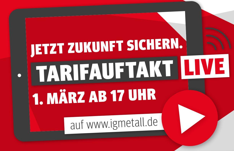 Save the date - 1. März: Tarifauftakt im Livestream