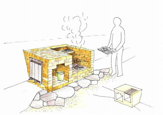 レンガで作る本格的バーベキュー炉