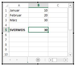 Excel-Kalkulationstabelle