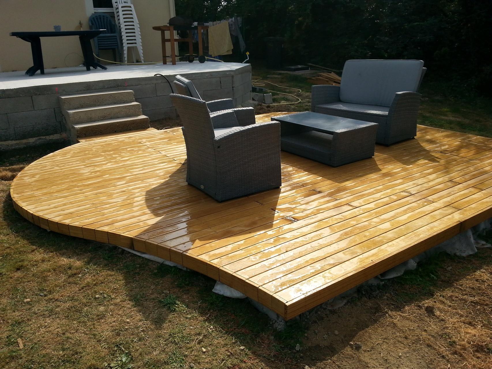 Terrasse bois en pin radiata