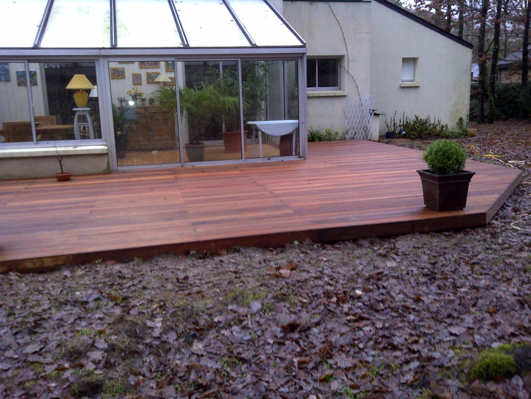 Terrasse bois en Garapa