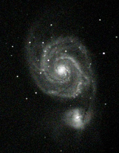 "M51 in June 7, 2005 before the supernova 330 second exposure 12.5"" f/6  ST-8"