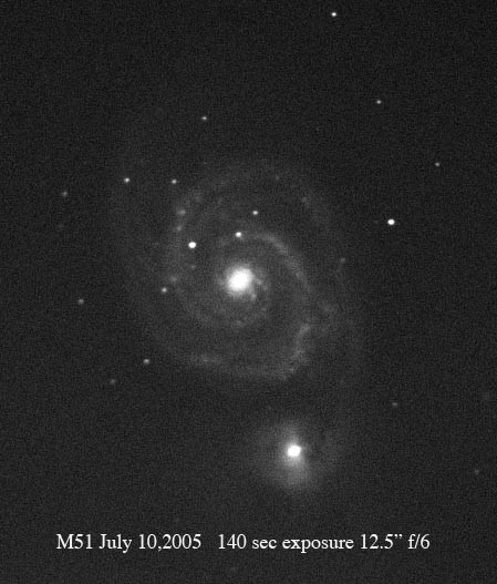 Whirlpool Galaxy in Canes Venatici, M 51, after the supernova