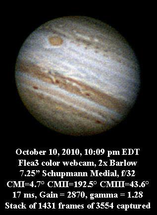 Jupiter 10 10 10 10:09 pm EDT