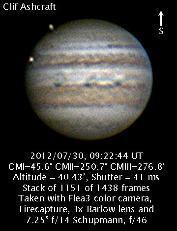 Jupiter at 5:23 am EDT