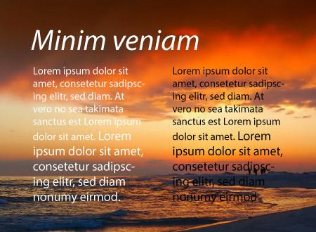 Esempio di contrasto per il testo del sito e lo sfondo.