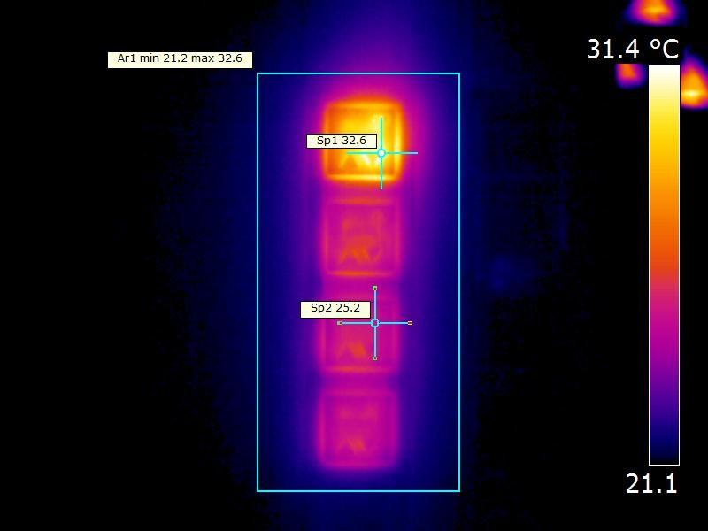 Auffälliger Temperaturunterschied von Jalousieeinbauschalter