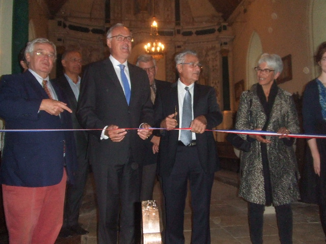 Inauguration avec Mr De Balorre
