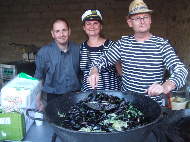 Philippe et son'équipe de cuisine