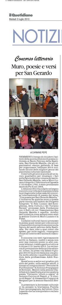 Il Quotidiano della Basilicata, 19 giugno 2013