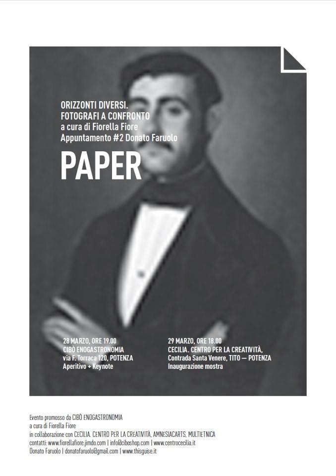 Paper, Donato Faruolo, 28 marzo 2013