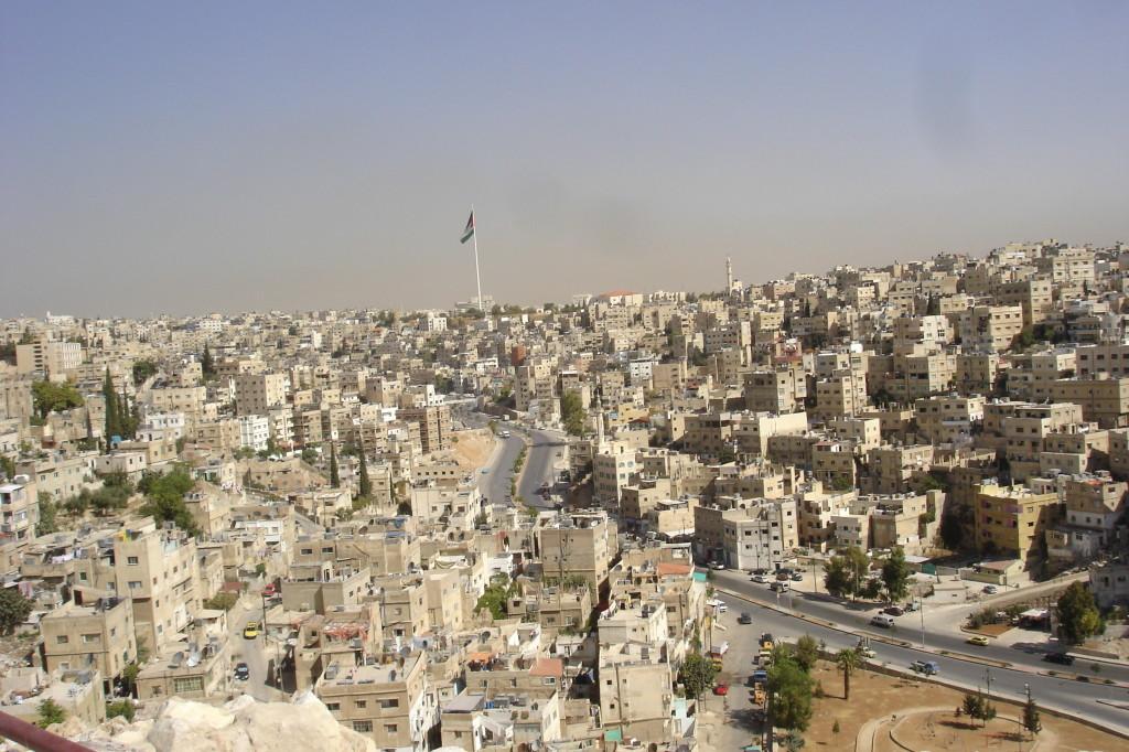 Drapeau au vent d'Amman,