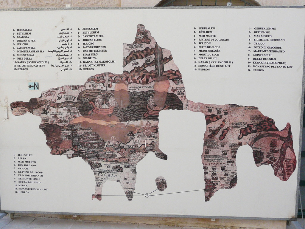 Panneau explicatif sur la carte
