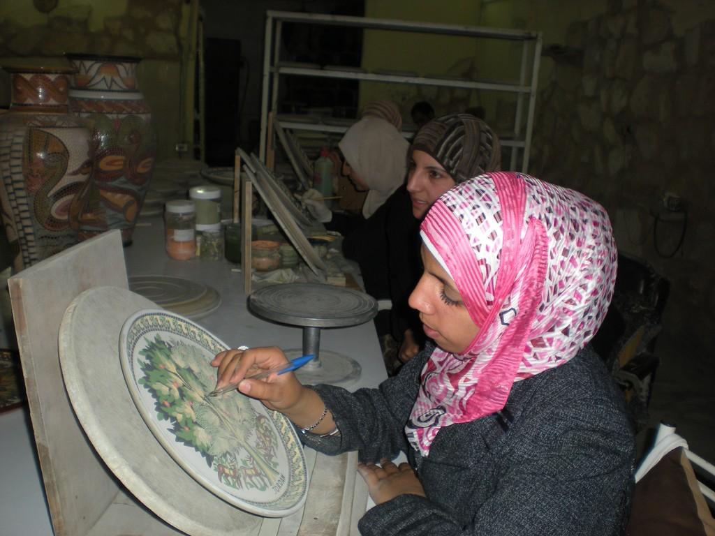 Atelier de Mosaiques vers Madaba