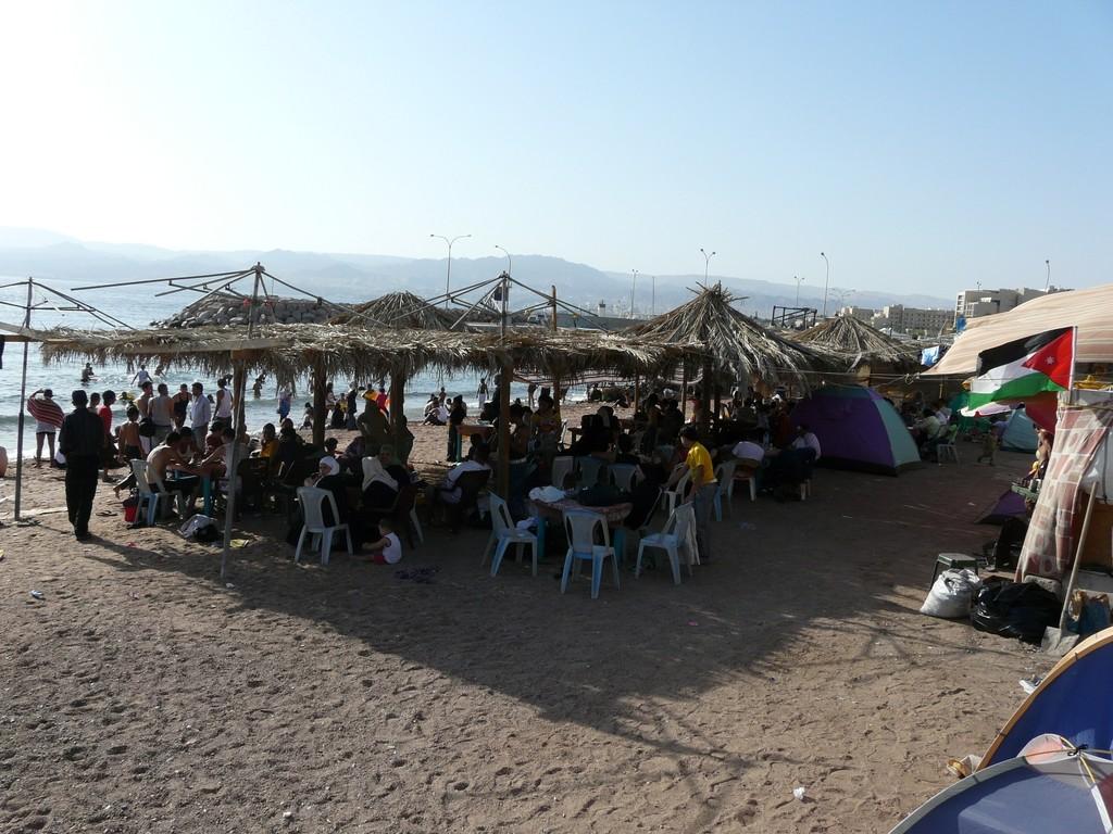 Aquaba fête de fin de ramadan, sur la plage