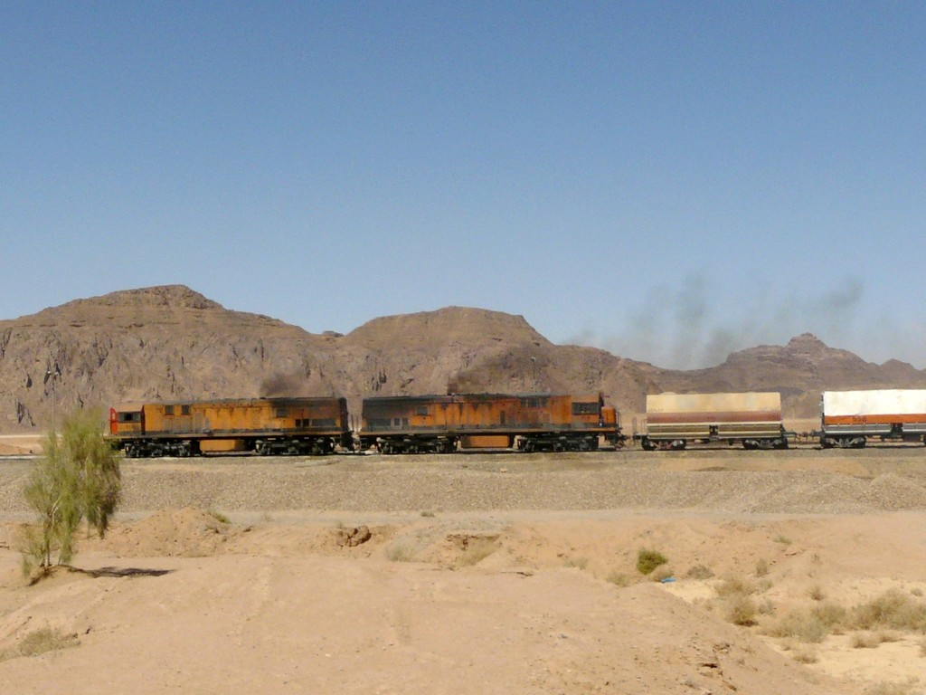 Train de potasse dans le Wadi Rum