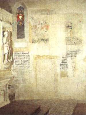 Peintures murales vraisemblablement du XIII/XIVe.