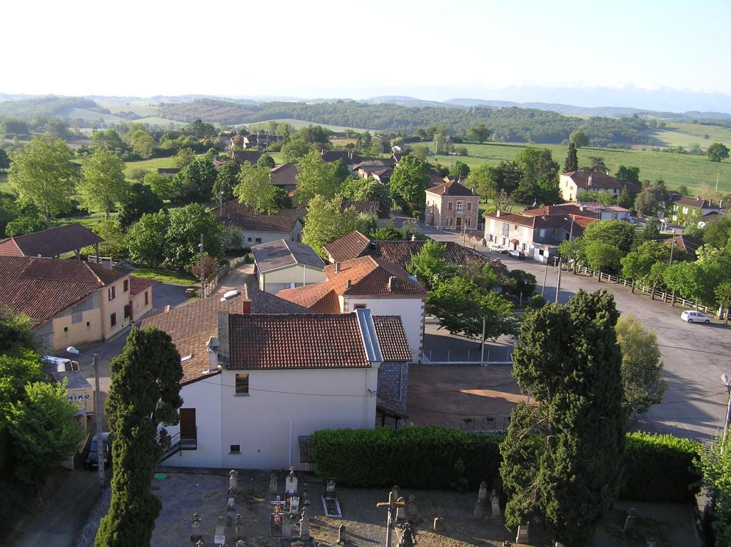 Centre-village, vue depuis le clocher