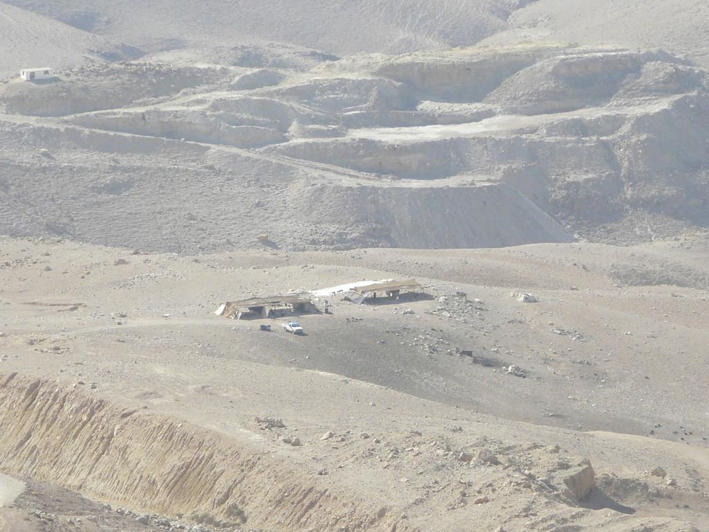 Tentes de Bédouins dans le sable