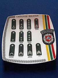 Nationale politie, wandbord met alle rangen