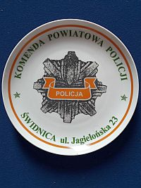 Wandbord politie Swidnica