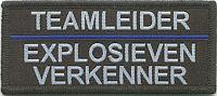 Borstbrevet teamleider explosieven verkenner