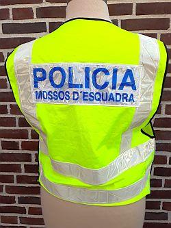 Mossos d'esquadra, politie Catalonië, veiligheidsvest