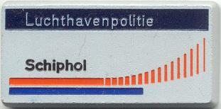 Naamplaatje Luchthavenpolitie Schiphol