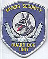 USA, Myers Security, K9